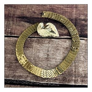 Chico's NEW Gold Plated Stretchy Leaf Belt